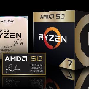 PROCESADOR AMD RYZEN 7 2700X 4.3GHZ 20MB SOCKET AM4 50 YEARS GOLD EDITION
